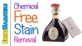 REMOVING STAINS FROM PET PRODUCTS (No Chemicals)